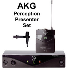 AKG PERCEPTION PRESENTER SET Wireless Lavalier Mic System $10 Instant Coupon Use Promo Code: $10-OFF