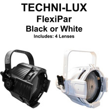 TECHNI-LUX FLEXIPAR575 Black or White Fixture includes 4 Lenses $5 Instant Coupon Use Promo Code: $5-OFF
