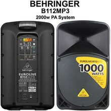 Behringer b112mp3 2000w wireless option pa speaker system $30 Instant Coupon use Promo Code: $30-OFF
