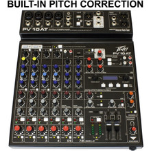 PEAVEY PV10AT Built-in Antares Live Pitch Correction USB FX Audio Mixer $5 Instant Off Use Promo Code: $5-OFF
