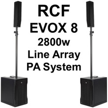 RCF EVOX 8 2800w Compact Active Line Array PA System $200 Instant Coupon Use Promo Code: $200-OFF
