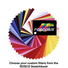 "Rosco pre-cut 12"" x 10"" custom color filters from the best sellers list"