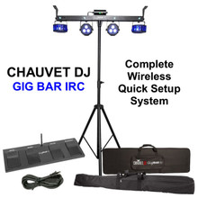 CHAUVET DJ GIG BAR IRC Complete Wireless Foot Control 4n1 Led / Laser / Strobe System $20 Instant Coupon Use Promo Code: $20-OFF
