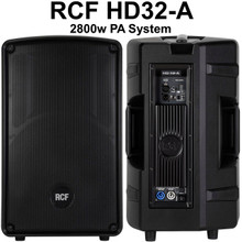 "RCF HD32-A 2800w Active PA System Pair with 3"" HF Driver"