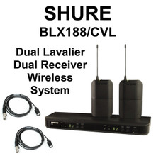 SHURE BLX188/CVL (2) Lavalier (2) Transmitters (1) Dual Reciever Wireless System $10 Instant Coupon Use Promo Code: $10-OFF