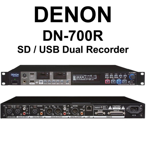 denon dn 700r sd usb dual simultaneous rackmount recorder 30 instant coupon use promo code 30. Black Bedroom Furniture Sets. Home Design Ideas