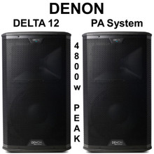 DENON DELTA 12 4800w Peak Remote Drive iOS App PA System Pair $50 Instant Coupon Use Promo Code: $50-OFF