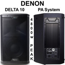 DENON DELTA 10 4800w Peak Remote Drive iOS App PA System Pair $50 Instant Coupon Use Promo Code: $50-OFF