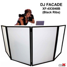 PRO-X XF-4X3048B Black Ribbed DJ Facade with Interchangeable Transparent Black/White Scrims $10 Instant Coupon Use Promo Code: $10-OFF