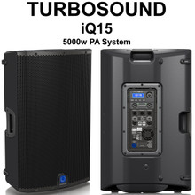 TURBOSOUND IQ15 5000w Active PA System Pair with Klark Teknik DSP $50 Instant Coupon Use Promo Code: $50-OFF