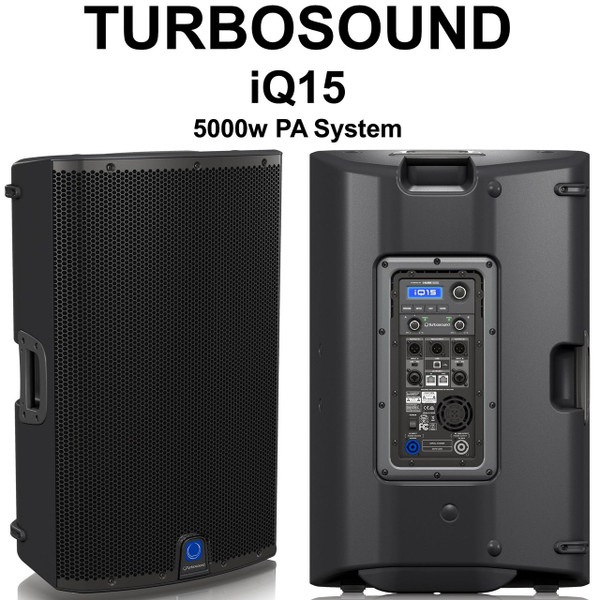Turbosound Iq15 5000w Active Pa System Pair With Klark