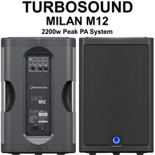 TURBOSOUND MILAN M12 2200w Peak Active Klark Teknik PA Speaker System Pair $30 Instant Coupon Use Promo Code: $30-OFF
