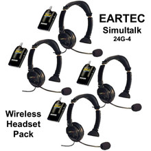 EARTEC SIMULTALK 24G-4 Wireless 4 Station System with Case $40 Instant off use Promo Code: $40-OFF