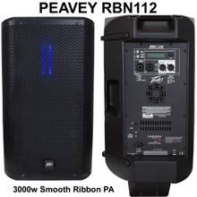 PEAVEY RBN112 3000w Smooth Active High Frequency Ribbon Driver PA System $200 Instant Coupon Use Promo Code: $200-OFF