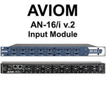 AVIOM AN-16/i v.2 Input Module Connects Personal Audio Mixers Over CAT5e $60 Instant Coupon Use Promo Code: $60-OFF