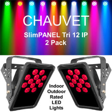 CHAUVET SLIMPANEL TRI 12 IP Indoor/Outdoor All Weather Light Pack $30 Instant Coupon Use Promo Code: $30-OFF