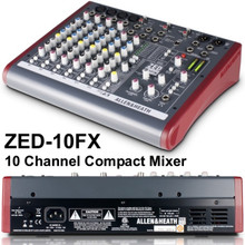 ALLEN & HEATH ZED-10FX Compact Multi-Purpose USB Live Recording Mixer