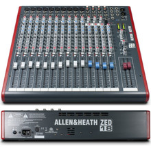 ALLEN & HEATH ZED-18 Compact Multi-Purpose USB Sonar LE Live Recording Mixer