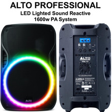ALTO PROFESSIONAL TSL115 LED Lighted Sound Reactive 1600w PA System $40 Instant Coupon Use Promo Code: $40-OFF