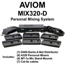 AVIOM MIX320-D Complete (6) Person Audio Mixing System $100 Instant Coupon Use Promo Code: $100-OFF