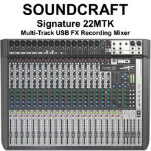 SOUNDCRAFT SIGNATURE 22MTK Multi-Track Professional Lexicon FX USB Recording Mixer $40 Instant Coupon use Promo Code: $40-OFF