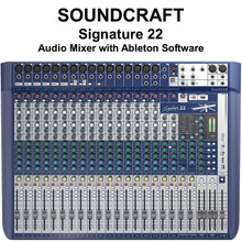 SOUNDCRAFT SIGNATURE 22 Lexicon FX USB Ableton Live 9 Lite Audio Mixer $35 Instant Coupon use Promo Code: $35-OFF