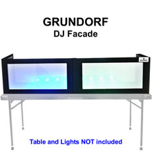 GRUNDORF GS-LS1658T Tabletop DJ Facade with Black Ribs and White Lycra Panels $10 Instant Coupon Use Promo Code: $10-OFF