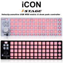 iCON iSTAGE Midi DJ Matrix Backlit Pad Controller $10 Instant Coupon Use Promo Code: $10-OFF