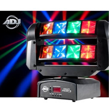 AMERICAN DJ CRAZY POCKET 8 Compact Intelligent LED Moving FX Light $20 Instant Coupon Use Promo Code: $20-OFF
