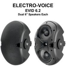 EV EVID 6.2 Indoor/Outdoor Restaurant Lobby Monitor Speaker Pair $25 Instant Coupon Use Promo Code: $25-OFF