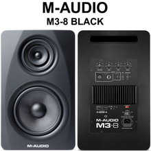 M-AUDIO M3-8 BLACK 440w Tri-Amp Active Nearfield Studio Monitors $30 Instant Use Promo Code: $30-Off