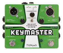 PIGTRONIX KEYMASTER Dual FX Loop Reamp Guitar Stompbox Pedal $15 Instant Off