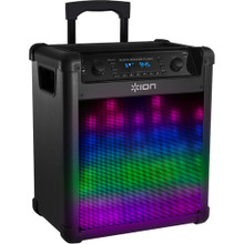 ION BLOCK ROCKER FLASH 50w / 75Hr Rechargeable Bluetooth Speaker & Mic with Built-in LED Lights $10 Instant Coupon Use Promo Code: $10-Off