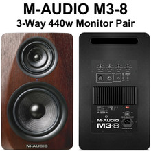 M-AUDIO M3-8 Real Wood 440w Tri-Amp Active Nearfield Studio Monitors $10 Instant Use Promo Code: $10-OFF
