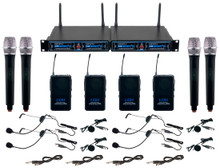 VOCOPRO UDH-4-ULTRA Church Choir Mix & Match 12 Mic Wireless Rackmount System $20 Instant Coupon Use Promo Code: $20-OFF