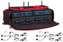 VOCOPRO UDH-PLAY-4-MIB Mix & Match 8 Mic Headset / Lavalier Wireless System in Carry Case $10 Instant Coupon Use Promo Code: $10-OFF