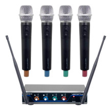 VOCOPRO HYBRID-QUAD-H 4-Channel Digital Wireless Handheld Microphone System $10 Instant Coupon Use Promo Code: $10-OFF