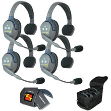 EARTEC UL4S UltraLITE 4 Station Wireless Headset System with Batteries & Carry Bag $10 Instant off use Promo Code: $10-OFF
