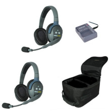 EARTEC UL2D UltraLITE 2 Station Wireless Dual Headset System with Batteries & Carry Bag $10 Instant off use Promo Code: $10-OFF