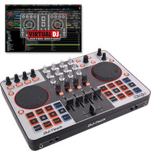 DJ TECH 4MIX 4-Deck Controller with USB Interface & Virtual DJ LE Software $5 Instant Coupon use Promo Code: $5-OFF