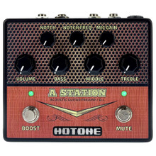 HOTONE A STATION Guitar Acoustic Preamp Stompbox $5 Instant Coupon use Promo Code: $5-OFF