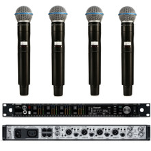 SHURE AXIENT Bundle AD4Q & AD2/B58 4 Channel Digital Rackmount Receiver & Mic Wireless System $500 Instant Coupon Use Promo Code: $500-OFF