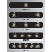 Socapex Female rackmount panel 6 - 30 circuit unterminated 2ru with 3' tails $15 Instant Coupon use Promo Code: $15-OFF