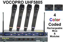 VocoPro UHF5805 (4) mic rackmount rechargeable wireless system $25 Instant Coupon use Promo Code: $25-OFF