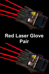 OMNISISTEM RED LASER GLOVES Left & Right 4 Unique Beams Each $10 Instant Coupon Use Promo Code: $10-OFF