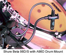 Shure Beta 98AD/C percussion drum mic $10 Instant Coupon use Promo Code: $10-OFF