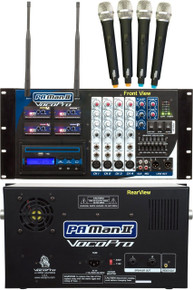 VocoPro PA-MAN-II (4) mic rackmount wireless powered mixer system $40 Instant Coupon use Promo Code: PAMANII