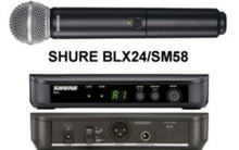 SHURE BLX24/SM58 Handheld Intuitive Interface Wireless Mic System $15 Instant Coupon Use Promo Code: $15-OFF