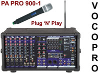 VOCOPRO PA PRO 900-1 Audio Mixer with Wireless Mic and SD Digital Recorder System $20 Instant Coupon use Promo Code: $20-OFF