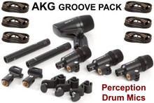 AKG groove Pack drum mic kit optional 20' XLR mic cables $10 Instant Coupon use Promo Code: groovePack